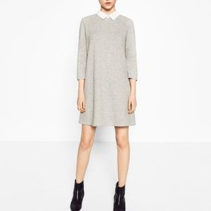 Zara Gray Poplin Dress